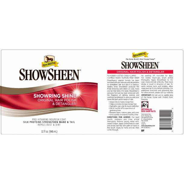 Absorbine Showsheen 946ml Refill